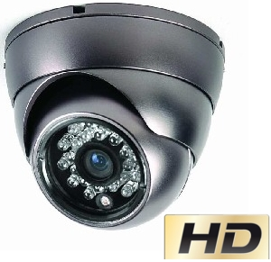 700 Tvl Antivandal dome (black).